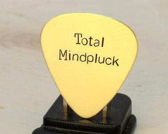 Total Mindpluck Brass Guitar Pick for the Befuddled Guitarist - GP799