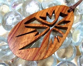 Cross Pendant / Burst Design / Exotic Canary Wood