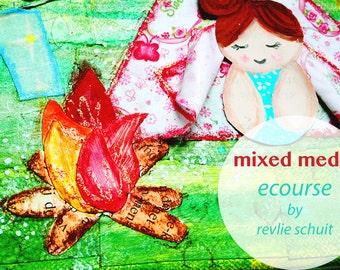 NEW: Online Class, 4 weeks, how to create MAGIC mixed media canvasses - in English
