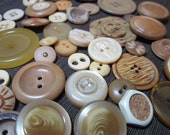 Cream and Neutral colored buttons