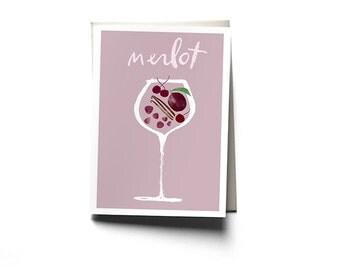 Merlot Greeting Card