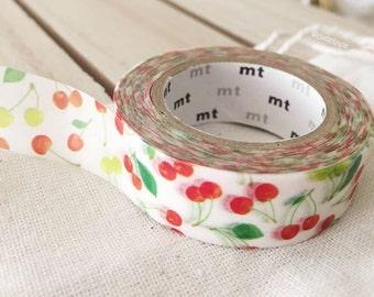 Cherries Washi Tape Cherry washi tape cherries decor Japanese masking tape - gift wrap scrapbooking PrettyTape