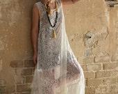 Winter Sale 15% Off!!! New Collection winter 2016!!! Ivory white lace maxi dress, romantic dress, wedding dress, prom dress