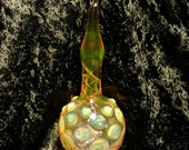 Blown glass Christmas ornament... Pyrex... Borosilicate glass... Handmade in Asheville NC