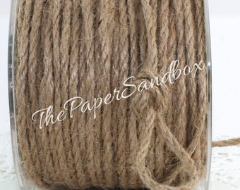 """Natural Burlap Cord, Nautical Cord, 1/8"""" wide by the yard, Nautical Weddings, Natural Jute Cord, Gift Wrapping, Party Supplies"""