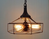 Western Electric. INDUSTRIAL Vintage LIGHT Shown with Edison Filament Bulbs