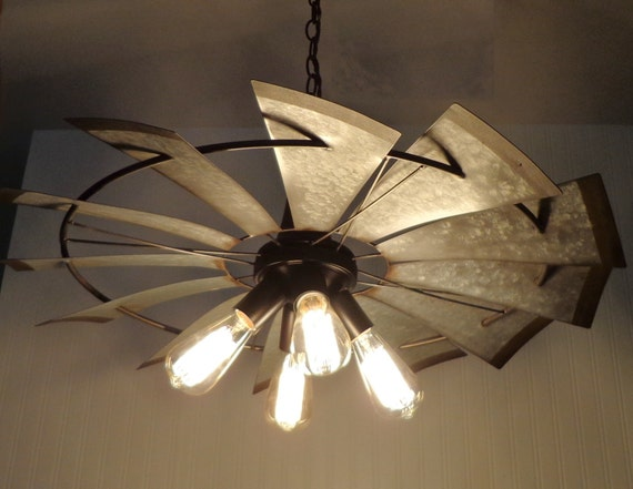 Windmill Chandelier Lighting Original Farmhouse By Lampgoods