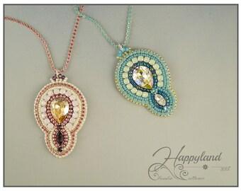 Dalila pendant , bead embroidery kit and pattern