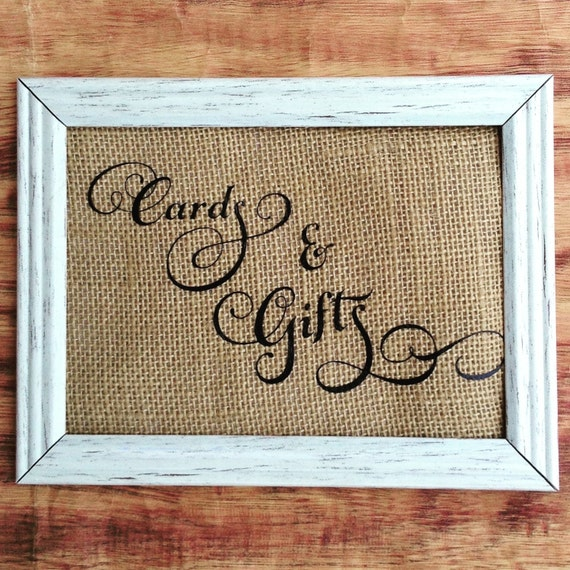 Wedding Sign, Cards and Gifts Sign, Rustic Wedding Signage, Wedding Signage, Wedding Reception 4x6, 5x7 or 8x10