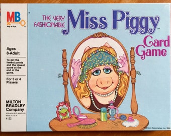Vintage 1980s Card Game / Milton Bradley The Very Fashionable Miss Piggy Card Game SEALED in Box / Ages 8 to Adult / Muppets Collectible