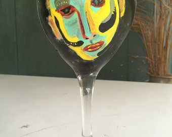 50% off in stock only . Theater and fashion wine glass with quote and monogram