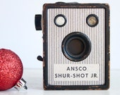 Camera, Working Ansco Shur Shot Jr., Art Deco Camera, 120 Camera, Gift Under 50, Gift For Artist, Gift For Photographer, Under 30