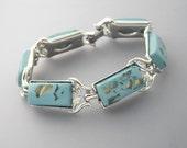 Coro Confetti Lucite Bracelet, Coro Turquoise Bracelet, Thermoset Bracelet, Turquoise Bracelet, Coro Bracelet, Turquoise Confetti Lucite