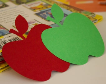 Paper Apples, Set of 20, Apple Cutout, Red Apples, Back to School, Classroom