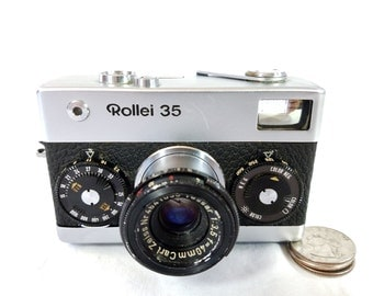 Rollei 35 - Film Camera made in Germany - 1960s and 70s - Carl Zeiss Lens