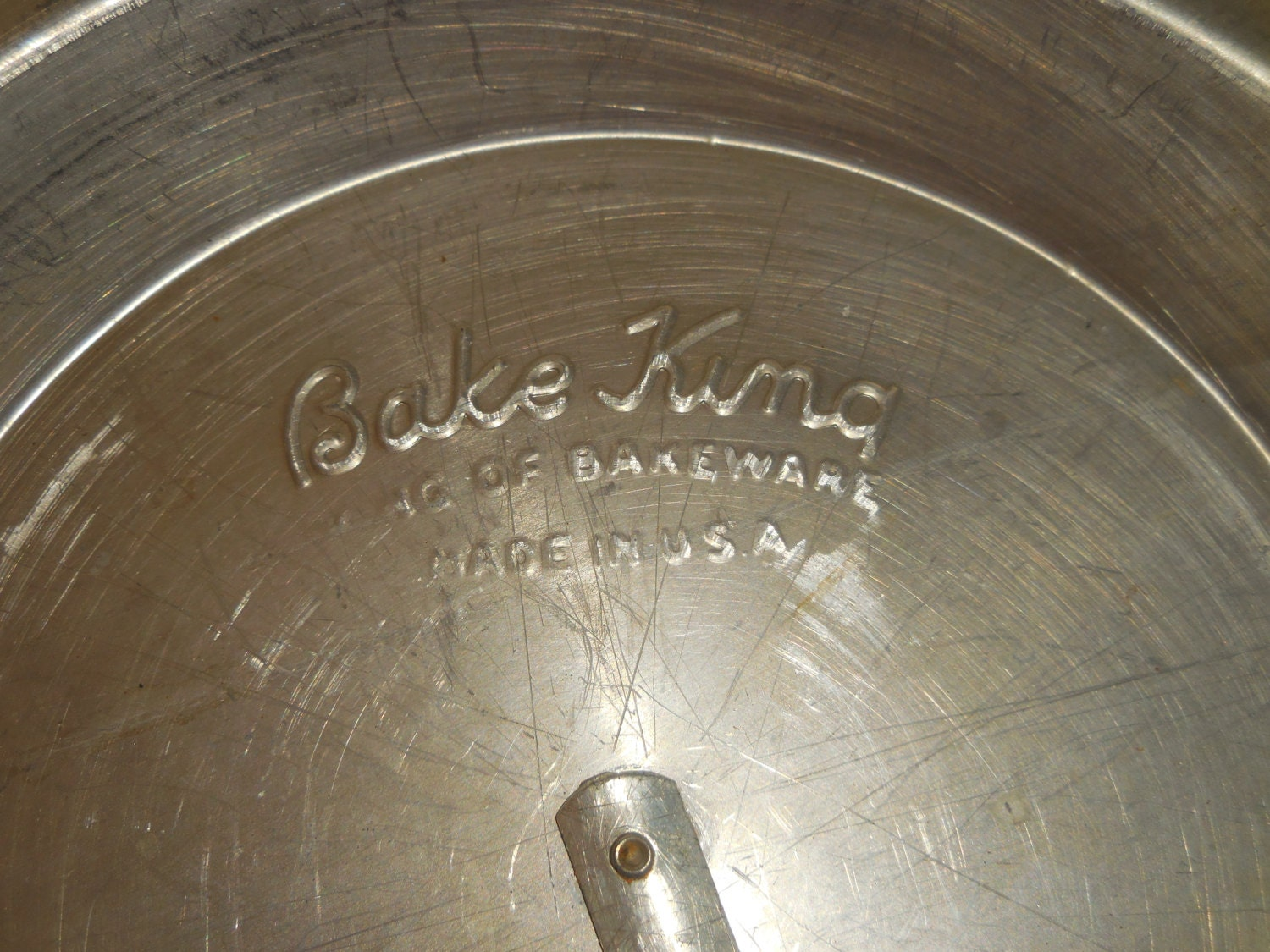 Vintage Bake King Pie Pan With Slide Release From