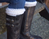Handknit Ribbed Boot Cuffs/Toppers