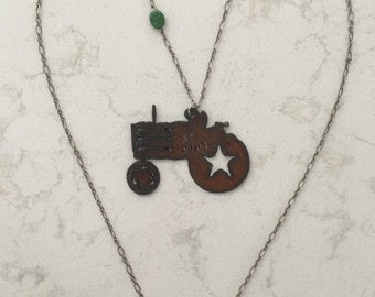 MN Tractor Necklace Farmers Daughter Wife