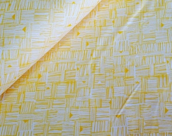 SuperBowl Sale Cross Hatch in Saffron, from Star Landing by Jeanean Morrison and freespirit fabrics, 1/2 yard