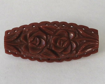 SALE Authentic Vintage Bakelite  Rusty Rose  Brooch