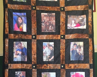 12 Photo Panel Memory Quilt