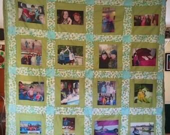 16 Panel Photo Memory Quilt