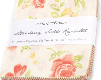 "Strawberry Fields Revisited Charm Pack by Fig Tree Quilts for Moda Fabrics 20260PP 42 5"" Fabric Squares"