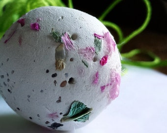 Autumn Bride, Wildflower Seed Bombs 60 Seed balls, Pink colors with how to Cards Gardening Gift