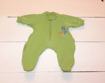 Lime Green Footed Sleeper - 14 - 15 inch boy doll clothes