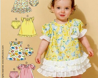 Baby Girls' Dress and Panties Pattern, Toddler's Dress and Panties Pattern, Sz 8 to 29 lbs, McCall's Sewing Pattern 7307