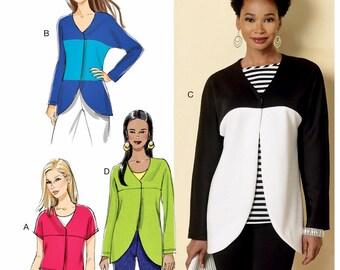Unlined Jacket Pattern, Shaped Hemline Jacket Pattern, Butterick Sewing Pattern 6329