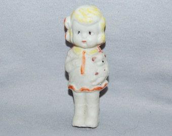Vintage / Bisque / Doll / Girl / Puppy/ penny doll / frozen charlotte / vintage dolls