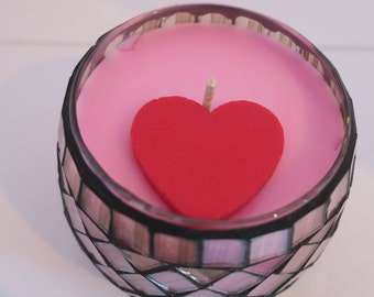 Pink Sugar Soy Glass Jar Candle