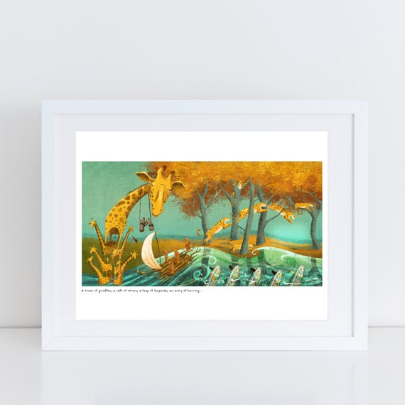 An Ambush of Tigers! (A Tower of Giraffes) - Signed Print from An Ambush of Tigers book