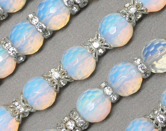 12 mm Glass Opal Czech Crystal Preciosa Fire Polished Faceted Round Beads