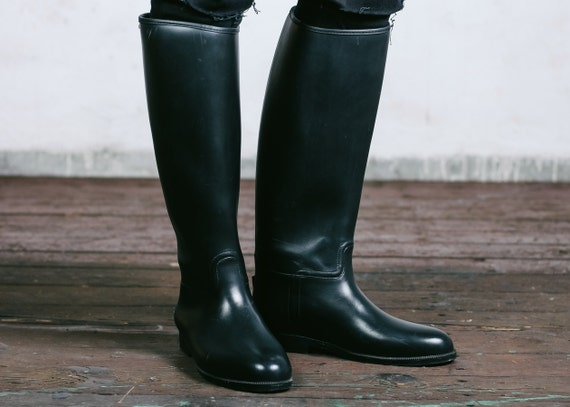 Tall Rubber Riding Boots Boot End