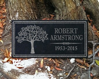 Custom Memorial Stone Personalized In Loving Memory Granite Memorial Plaque Gift Sympathy Remembrance Garden Indoor Grave Marker Stone