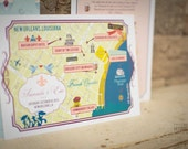 Personalized New Orleans Map and 11x14 print for RHONDA