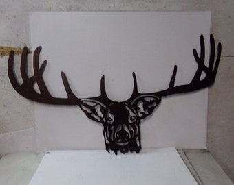 Custom Deer Head X Large Man Cave Wall Art Silhouette