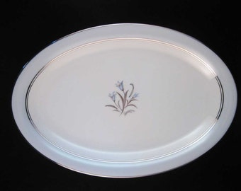 "Noritake Bluebell Oval Serving Platter 12""  #5558"