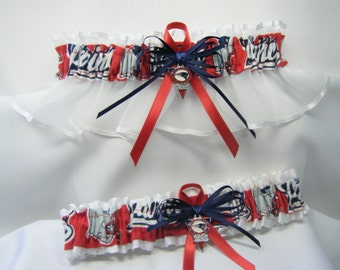 New England Patriots handmade wedding garters sports garter