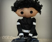 Wybie Button Eye Doll Inspired The other WYBIE- Coraline Jones- creepy cute goth ooak