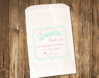Custom Printed Candy Buffet Bags- Candy Bar bags-Custom Favor Bags-Party Favor Bag