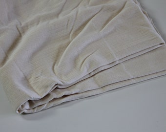 Ribbed Knit Fabric cream off-white wide ribbed cotton knit apparel t-shirt dress fabric soft stretch knit cotton fabric 1.5 yds