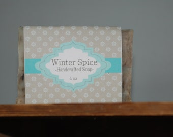All Natural Winter Spice Handmade Soap organic ingredients