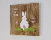 Rabbit Nursery Decor, Woodland Creatures, Baby, Bunny, Baby's Room, Play Room, Nursery Decor, Wall Decor, Boy, Girl, Gender Neutral