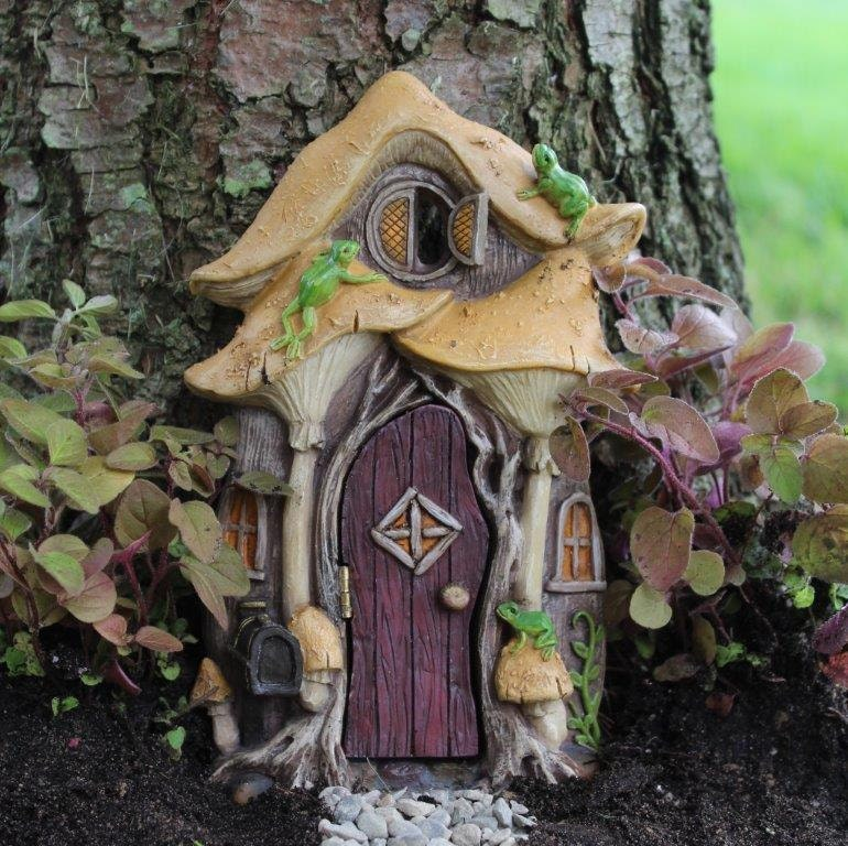 Leap frog fairy door for the fairy garden for Outdoor fairy door