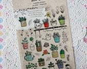 Garden Theme Sticker - Diary and Planner Sticker - Travel Themed Scrapbook Supplies - 1 sheet - Gift Sticker - Ready to ship!