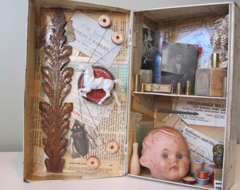 As Above, So Below mixed media assemblage, found object art