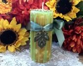 Autumn Magic Pillar Candle, Mabon Candle, Fall Candle, Lammas Candle, Spell Candle, Ritual Candle